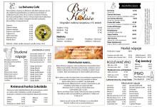 Stálá nabídka pro kavárnu DKB