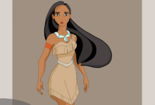 Character design_fun art Pocahontas